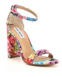 2a4c340c7a5c Steve Madden - Carrson Flower Multi Ankle Strap Block Heel Dress Sandals -  Lyst