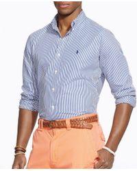 Polo Ralph Lauren - Vertical Striped Poplin Shirt - Lyst