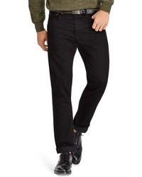 Polo Ralph Lauren - Hudson Stretch Varick Slim Straight Fit Jeans In Black - Lyst