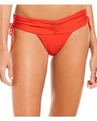 Gianni Bini - Vyb X Ruched Wide Band Cheeky Bikini Swimsuit Bottom - Lyst