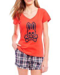 Psycho Bunny - Grande Bunny Screen-print Logo Sleep Tee - Lyst