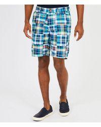 Nautica - Flat-front Classic Fit Madras Shorts - Lyst