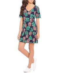 Draper James - Pineapple Print Knit Dress - Lyst