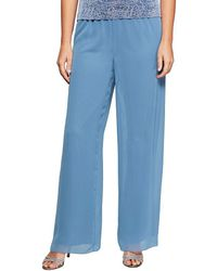 Alex Evenings - Wide-leg Chiffon Pants - Lyst