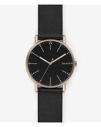 Skagen - Signatur Analog Leather-strap Watch - Lyst