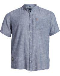 North 56'4 - Big & Tall Striped Short-sleeve Woven Shirt - Lyst