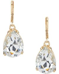 Belle By Badgley Mischka - Tear Drop Earrings - Lyst