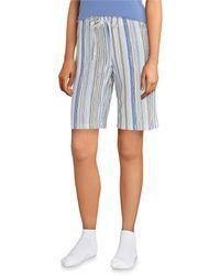 Hue - Tique Stripe Streak-printed Knit Bermuda Sleep Shorts - Lyst
