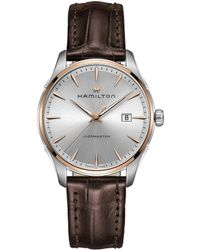 Hamilton - Jazzmaster Gent Analog & Date Leather-strap Watch - Lyst