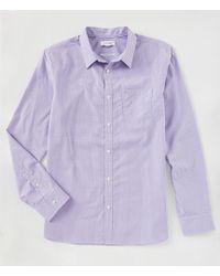 e7811748e2e Lyst - Calvin Klein Long Sleeve Slim Fit Shirt in Gray for Men