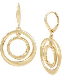 Kenneth Cole - Gold Sculptural Orbital Drop Earrings - Lyst