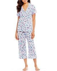 Karen Neuburger - Butterfly-printed Capri Pajama Set - Lyst