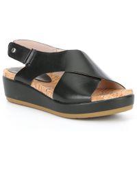 9639dfdc630 Lyst - Pikolinos Womens Mykonos Cutouts Leather Open Toe Casual ...