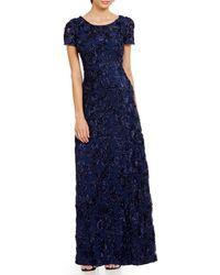 Alex Evenings - Rosette Shimmer Gown - Lyst