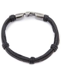 Murano - Leather Bead Bracelet - Lyst