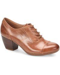 Comfortiva - Angelique Smooth Leather Cap Toe Block Heel Oxford Pumps - Lyst