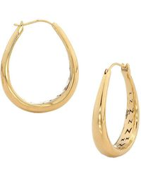 Nadri | Small Tapered Hoop Earrings | Lyst