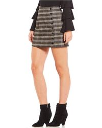 Sugarlips - Plaid Button-front Mini Skirt - Lyst
