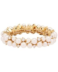 Anne Klein - Pearl Stretch Bracelet - Lyst