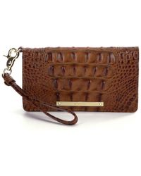 Brahmin - Toasted Almond Collection Debra Embossed Wristlet - Lyst