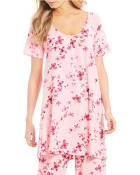 Hue - Tique Social Butterfly Print Knit Sleep Shirt - Lyst