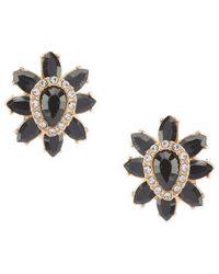 Anne Klein - Stone Flower Clip Earrings - Lyst