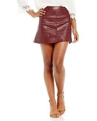 e24ae31d7 Jolt - Faux Leather Quilted Mini Skirt - Lyst