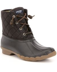 Sperry Top-Sider - Saltwater Quilted Waterproof Matte Lace Up Duck Boots - Lyst
