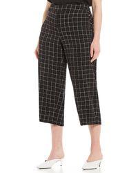 Jones New York - Plus Size Twill Plaid Culotte Pant - Lyst