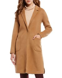 Antonio Melani - Notch Collar Long Wool Jacket - Lyst
