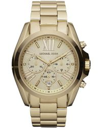 Michael Kors - Bradshaw Goldtone Stainless Steel 3 Hand Watch - Lyst