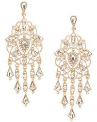 Belle By Badgley Mischka - Filigree Chandelier Earrings - Lyst