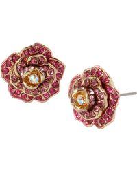 Betsey Johnson - Rose Stud Earrings - Lyst