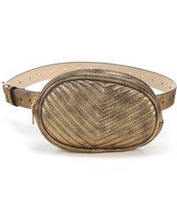 Steve Madden - Metallic Quilted Belt Bag - Lyst