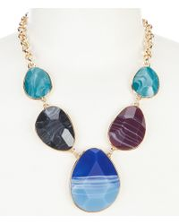 Dillard's - Tailored Five Piece Stone Frontal Necklace - Lyst