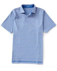 Fairway & Greene - Short-sleeve Bryce Stripe Natural Jersey Golf Polo - Lyst