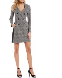 Donna Morgan - Double Breasted Menswear Dress - Lyst