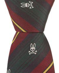 Psycho Bunny - Fancy Stripe Traditional Silk Tie - Lyst
