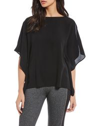 Eileen Fisher - Georgette Crepe Bateau Neck Top - Lyst