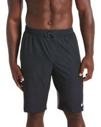 "Nike - Big & Tall Perforated Logo Vital 11"" And 13"" Inseam Stretch Swim Trunks - Lyst"