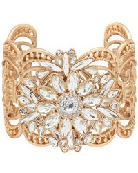 Belle By Badgley Mischka - Stone Cuff Bracelet - Lyst