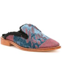 Free People - Butterfly Effect Faux Fur Lined Mules - Lyst