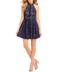 Blu Pepper - All Over Lace Dress - Lyst