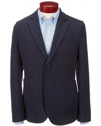 Brooks Brothers - Double Knit Patch Pocket Elbow Patch Blazer - Lyst