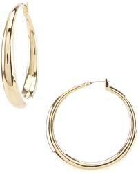 Lauren by Ralph Lauren - Gold Gradual Hoop Earrings - Lyst