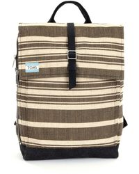 TOMS - Trekker Two-toned Striped Backpack - Lyst