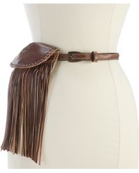 Bed Stu - Bliss Fringed Pouch Belt - Lyst