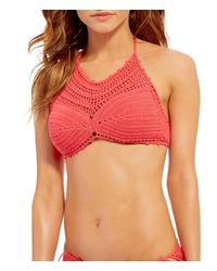 Bikini Lab - Take It Or Weave It Crochet High Neck Bra - Lyst