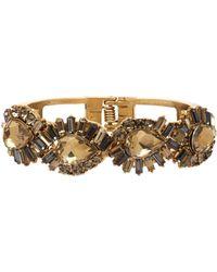 Belle By Badgley Mischka - Abstract Rhinestone Cuff Bracelet - Lyst