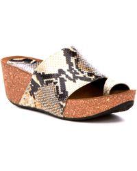 Ginie Snake Print Leather Wedge Sandals ADnrZcOwu